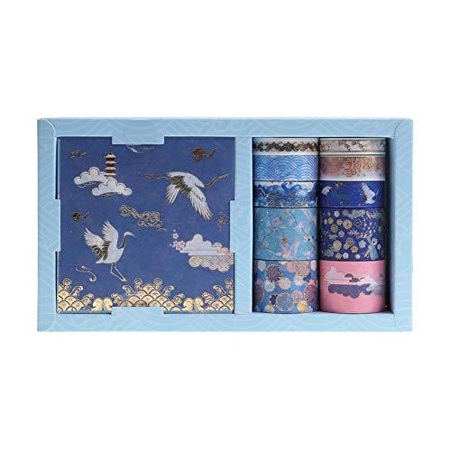 Set de cintas washi y hojas adhesivas diseno japones E