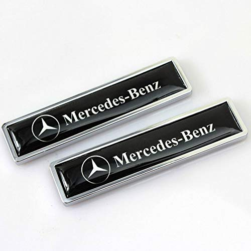 Ycsm 2 Pcs Metal Decorative Logo Badge Sticker Side Fender Badge Sticker Apply for Mercedes-Benz