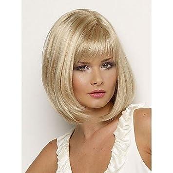 GSP-bob sintético pelucas corto peluca rubia pelo lacio para las mujeres pelucas naturales con