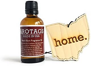 product image for Arotags Ohio Car Air Freshener & Cool Breeze Fragrance Oil Diffuser. Lasts 365+ Days. 100% Made in U.S.A.