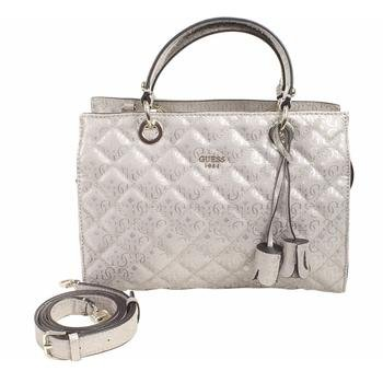 ina Quilted Pink Gloss Satchel Handbag ()