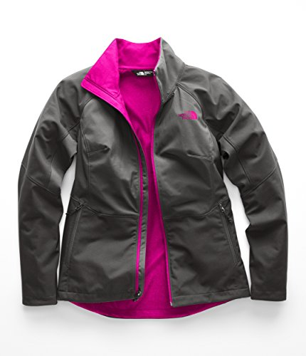 The North Face Women's's Apex Piedra Softshell - Asphalt Grey & Asphalt Grey & Atomic Pink - M