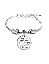 Bangle Mother Day Expandable Bracelet Birthday Daughter Wedding The Love Between Mother Daughter is Forever