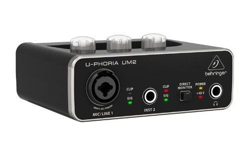 behringer audio interface 1x xlr trs 1x 1 4 2x rca usb black 1 channel um2 buy online in. Black Bedroom Furniture Sets. Home Design Ideas