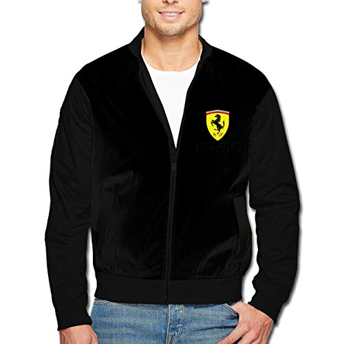 Syins Design Man Ferrari Logo Jackets M Black