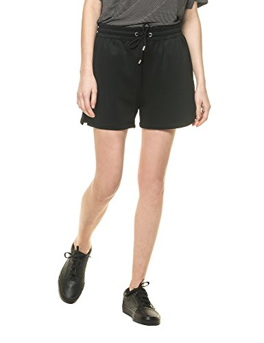 dr-denim-jeansmakers-womens-essi-womens-black-sporty-shorts-in-size-s-black