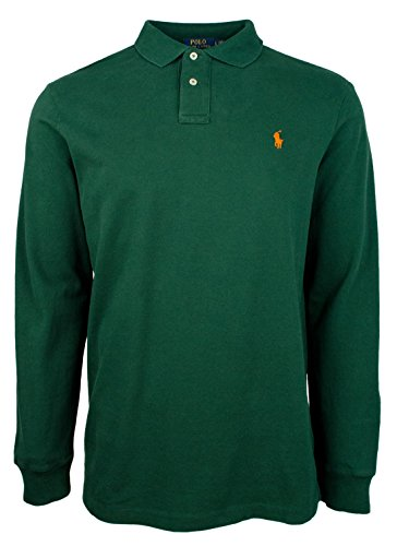 Polo Ralph Lauren Men's Classsic Fit Long Sleeve Mesh Polo - P Lauren Ralph