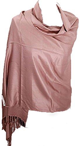 Sciarpa scialle di cachemire caldo sopra l'abito avvolgente