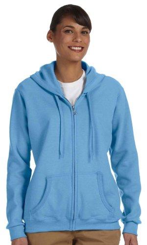 Gildan womens Heavy Blend 8 oz. 50/50 Full-Zip Hood(G186FL)-CAROLINA - Discount Womens