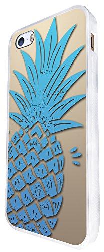 289 - Pineapple Summer Time Design iphone SE - 2016 Coque Fashion Trend Case Coque Protection Cover plastique et métal - Blanc