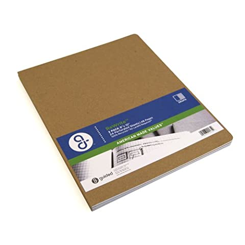 Guided Products ReWrite 8 x 10 Inches, Graph Recycled Notebook, 48 Pages, 3 Pack (GDP00135)