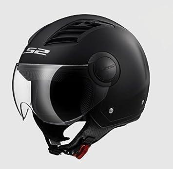 Casco Airflow Jet LS2 Helmets enchufes Aire visera gafas Silver talla XS