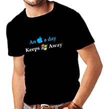 N4246 Mens T shirts An Aplle a day ...