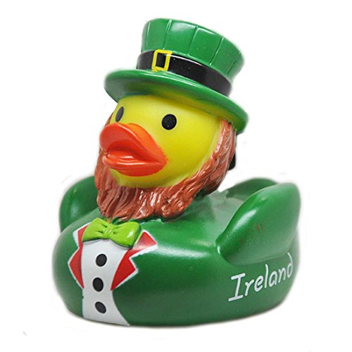 Carrolls Irish Gifts Souvenir Donal The Duck with Leprechaun Design Rubber Duck