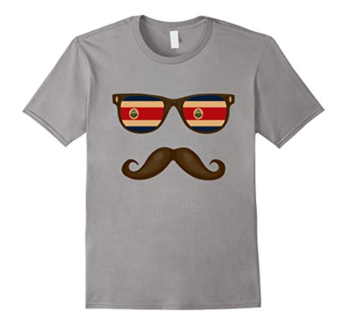 Mens Costa Rican Flag Sunglasses Moustaches Shirt Costa Rica Tee 2XL - Costa Rica Sunglasses