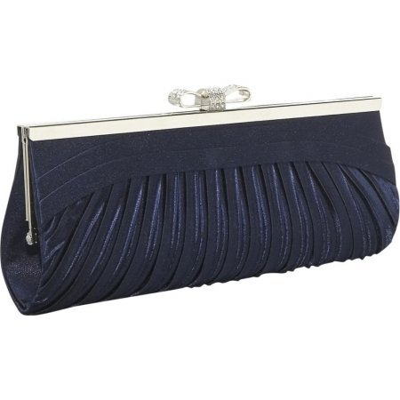 J. Furmani Elegant Clutch (Navy) (Furmani Satin Clutch)