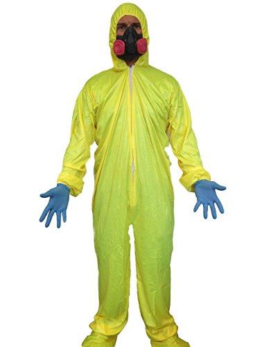Rubber Johnnies Bad Chemist Yellow Hazmat Costume, Adult One Size, Breaking, Walter