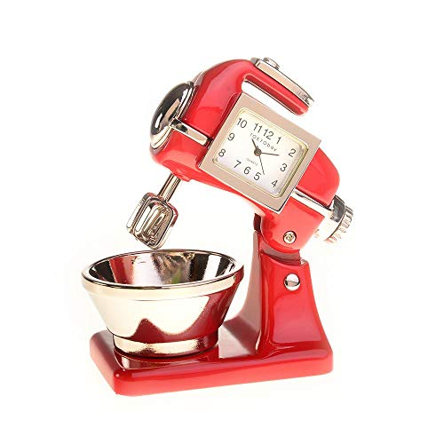 - Red Co. Miniature Old Fashioned Kitchen Mixer, Novelty Desk Table Desktop Collectors Clock - 3