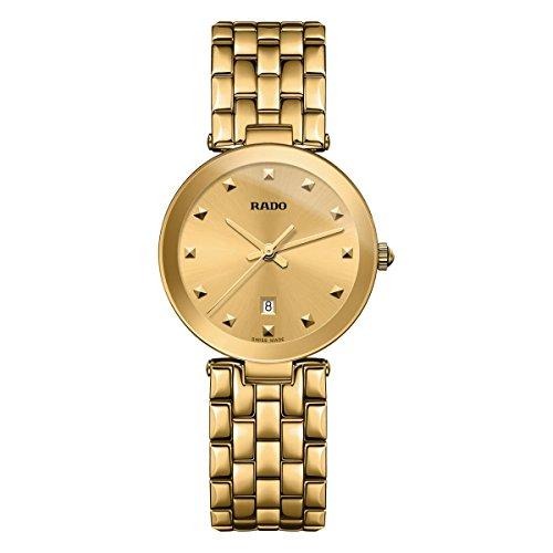 Rado Women's Florence 28mm Gold Plated Bracelet & Case Quartz Gold-Tone Dial Analog Watch R48872253