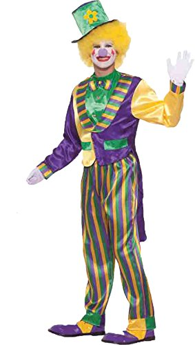 UHC Men's Mardi Gras Circus Clown Theme Party Funny Adult Halloween Costume