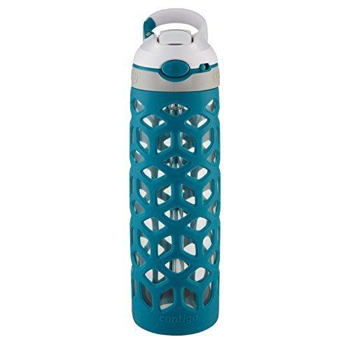 Contigo AUTOSPOUT Straw Ashland Glass BPA Free Water Bottle,