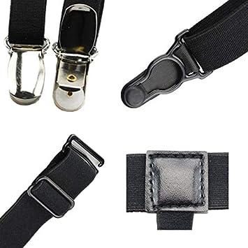 Mens Shirt Stays Garters Nylon Adjustable Braces Stirrup Non-slip Elastic Leg Belt Men Suspenders Shirt Holders Apparel Accessories