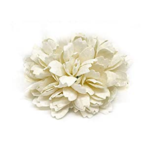 Savvi Jewels 2.5cm White Mulberry Paper Flowers with Wire Stems, Babys Breath Flowers, Mini Artificial Paper Flowers, Wedding Decor Craft Flowers 50 Pieces 42