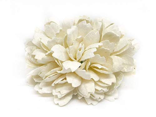 Savvi Jewels 2.5cm White Mulberry Paper Flowers with Wire Stems, Babys Breath Flowers, Mini Artificial Paper Flowers, Wedding Decor Craft Flowers 50 Pieces from Savvi Jewels