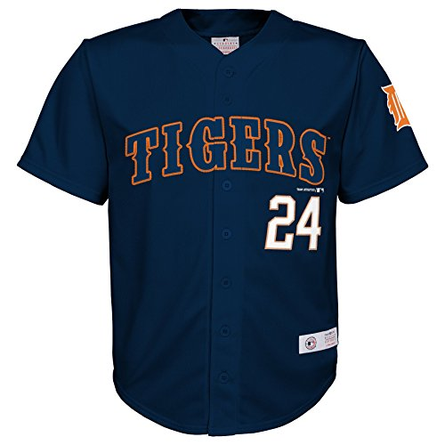 Outerstuff MLB Detroit Tigers Boys Player Cabrera Fashion Jersey, Athletic Navy, 4/5