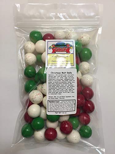 - Christmas Malt Balls Candy, Various Sizes (1 pound)