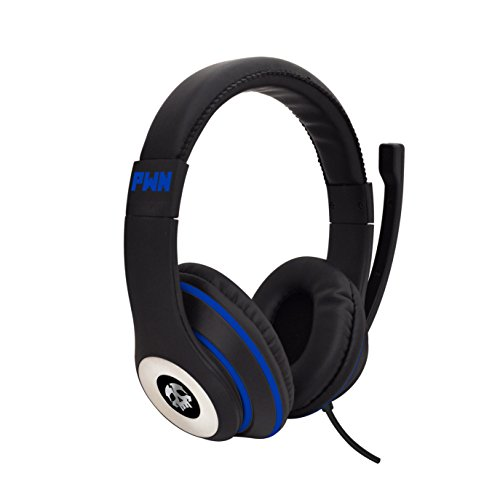 41Ft81CDApL - Audio Council PWN Gaming Headset with Stereo Over Ear Gamer Headphones, Adjustable Microphone, Inline Volume Control Mic PS4 PC WiiU Xbox Smartphones PC Tablet Laptop Computer Skype