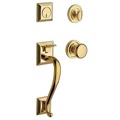 - Baldwin 85320.003.ENTR Madison Sectional Trim Handleset with Classic Knob, Lifetime Polished Brass