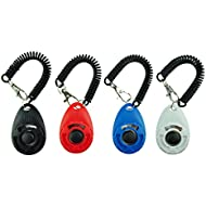 EcoCity [2018 New Upgrade Version Dog Training Clicker with Wrist Strap, 4-Pack