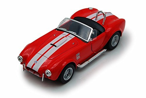 - 1965 Shelby Cobra 427 S/C Convertible, Red - Kinsmart 5322/4D - 1/32 scale Diecast Model Toy Car (Brand New, but NO BOX)