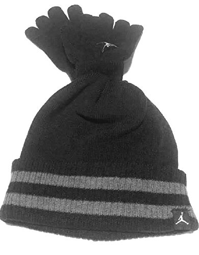 Nike Jordan Boys Winter Hat Beanie Cap Gloves Set Size : 4/7-Toddler