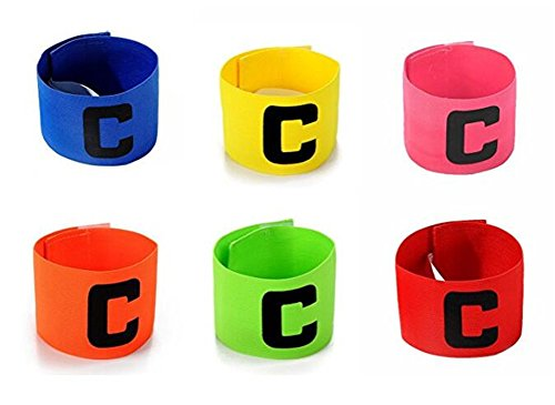 6 Pcs Outdoor Football Soccer Adjustable Captain Armbands Flexible Sports Player Bands for Kids and Youth from Wendy Mall