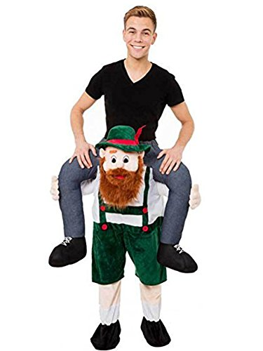 Ride On Riding Shoulder Adult Baby Beer Guy Christmas Halloween Costume Unisex Fancy Dress (Bearded Guy) (Bearded Halloween Costume)