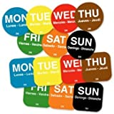 DayMark Day Of The Week Dot Box 19mm Circles Labels
