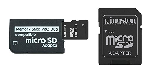 16GB Memory Stick Pro Duo Combo (16GB Micro SD + MS Pro Duo Adapter) (Ms Pro Duo Model)