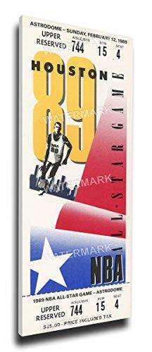 (That's My Ticket 1989 NBA All-Star Game Mega Ticket Wall Decor, Rockets Host, MVP Karl Malone, Jazz)