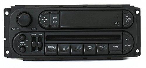 Chrysler Jeep Dodge 2002-07 Radio AM FM Single Disc CD Player RBK Slider (Oem Factory Radio)
