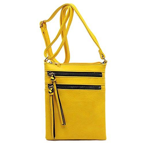 Functional Bag Yellow Crossbody Pocket Multi Americana vzCqwUU