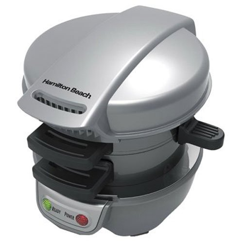 Hamilton Beach 25475 Breakfast Sandwich Maker, Gray Discontinued