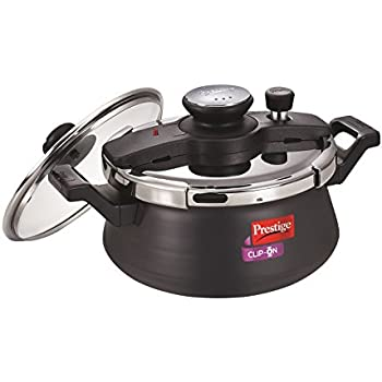 Amazon.com: Prestige Clip-on Stainless Steel Pressure Cooker, Cook ...