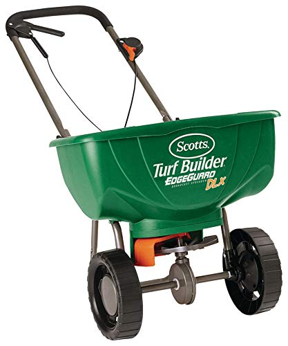 Scotts Turf Builder EdgeGuard DLX Broadcast Spreader (Best Push Fertilizer Spreader)