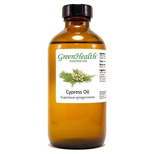 (GreenHealth Cypress - 8 fl oz (237 ml) Glass Bottle w/Cap - 100% Pure Essential Oil )