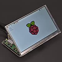 GeeekPi Raspberry Pi 7 inch 1024x600 LCD Screen TFT Panel LCD Display with Driver Board HDMI + VGA + 2AV & Tranparent Clear Acrylic Bracket Holder (Without Touch+Acrylic Bracket)