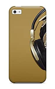 High-quality Durable Protection Case For Iphone 5c(headphones Music People Music)