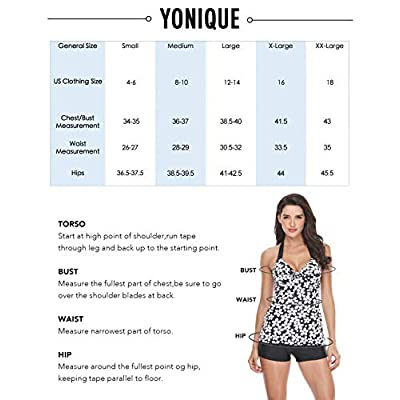 Yonique Blouson Tankini Swimsuits for Women Loose Fit Floral Printed Two Piece Bathing Suits at Women's Clothing store
