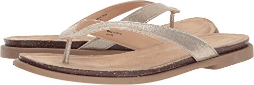 Kenneth Cole REACTION Women's Jel ing Flat Thong Sandal with Comfort Footbed Flip-Flop, Soft Gold, 9.5 M US ()